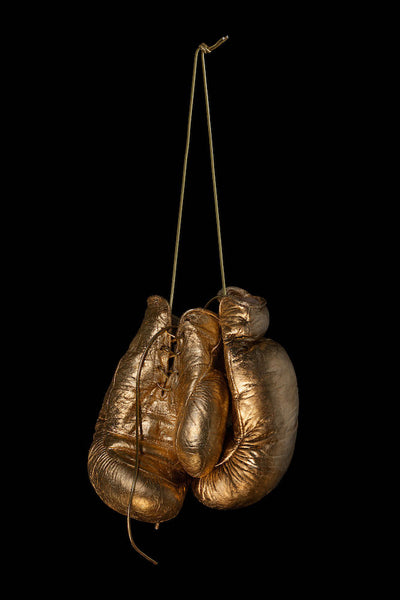 Hanging up the Gloves - Gold, 2017. Juan Leyva