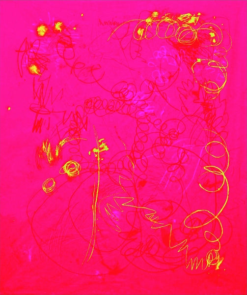 Fuchsia & Red Fade with Yellow & Hot Pink, 2016. Kimberly Rowe