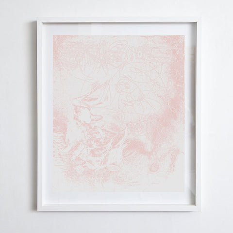 After Twombly - Pale Pink, 2016. Kimberly Rowe