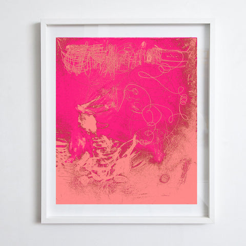 After Twombly - Pink and Rose, 2016. Kimberly Rowe