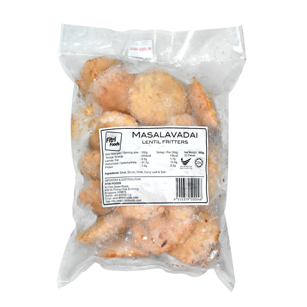 Masalavadai Lentil Fritters-Frozen Food-Fitri Foods-Sedap.sg
