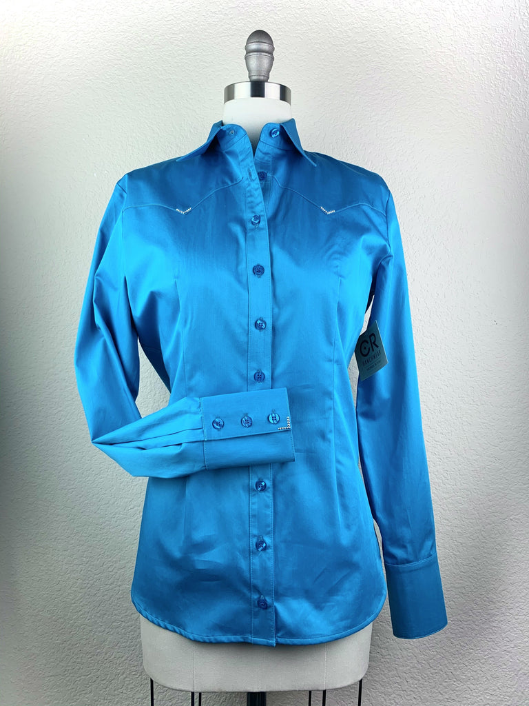 CR Western Pro Bright Turquoise Cotton Sateen