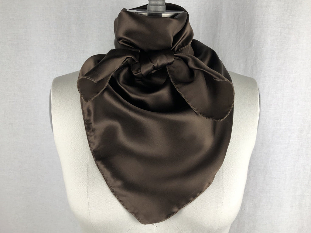 CR RanchWear CR Chocolate Silk Scarf