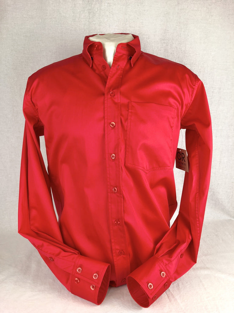 CR RanchWear CR Western Pro Bright Red Cotton Sateen