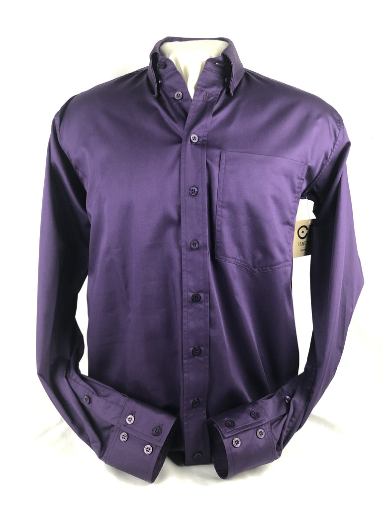 CR RanchWear CR Western Pro Eggplant Cotton Sateen