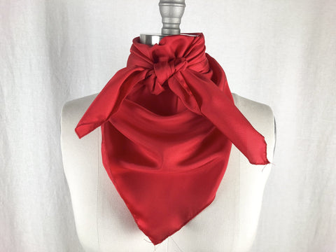 CR RanchWear Physical CR Bright Red Silk Scarf