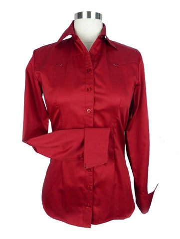 CR RanchWear Physical CR Classic Dark Red Cotton Sateen