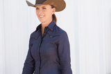 CR RanchWear Physical CR Classic Steel Gray Italian Cotton with Black Piping