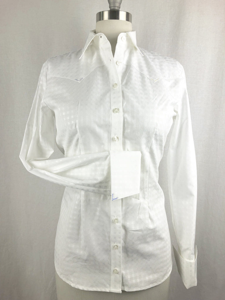 CR RanchWear Physical CR Classic White Basketweave Italian Cotton