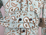 CR RanchWear Physical CR Girls Aqua Howdy Paisley