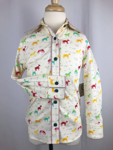 CR RanchWear Physical CR Girls Colorful Grazing Horses