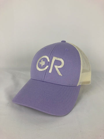 CR RanchWear Physical CR Lavender and Cream Mesh Hat