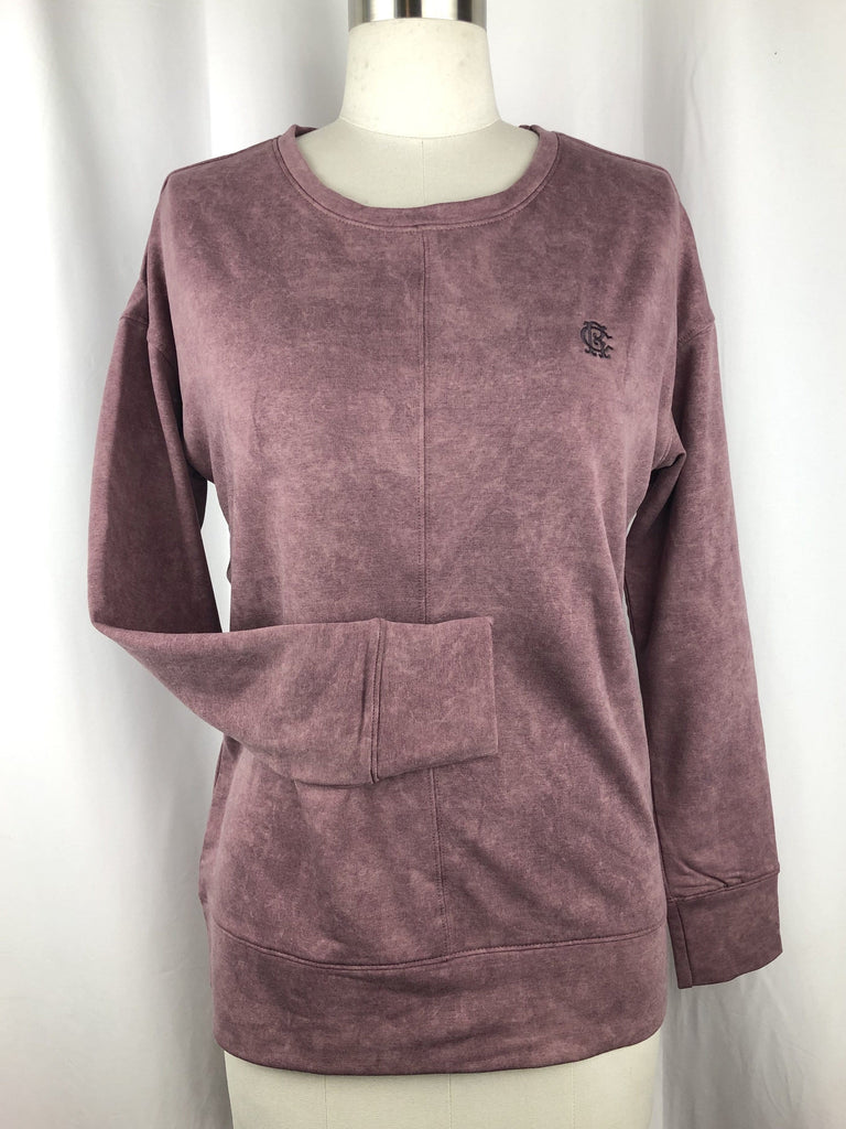 CR RanchWear Physical CR Marbled Dusty Rose Pullover
