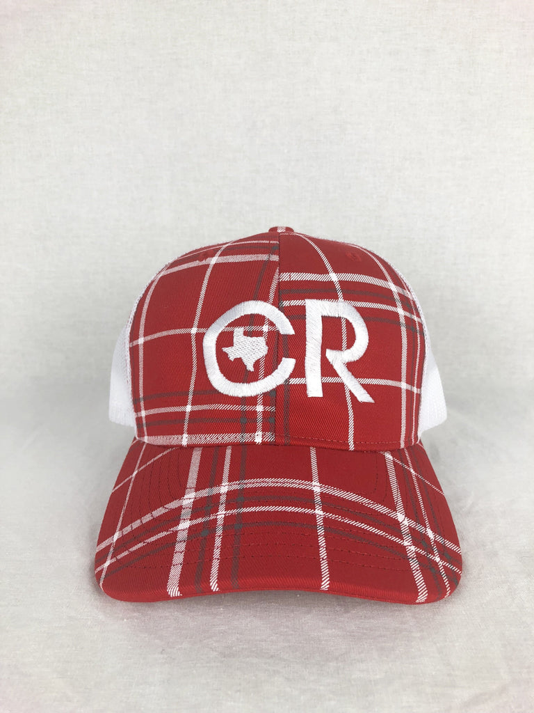 CR RanchWear Physical CR Red Plaid Hat