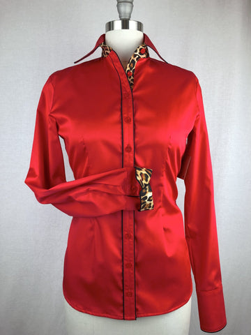 CR RanchWear Physical CR Tradition Bright Red Cotton Sateen with Cheetah