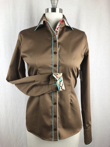 CR RanchWear Physical CR Tradition Bronze Cotton Sateen with Tea Flower Contrast