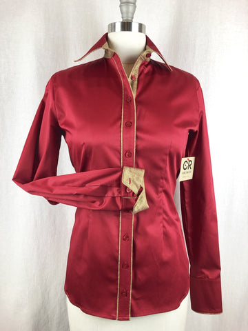 CR RanchWear Physical CR Tradition Dark Red Cotton Sateen with Bronze