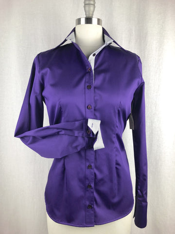 CR RanchWear Physical CR Tradition Purple Cotton Sateen with Black and White Contrast
