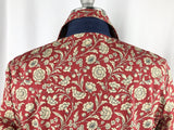 CR RanchWear Physical CR Tradition Red and Tan Floral with Denim Contrast