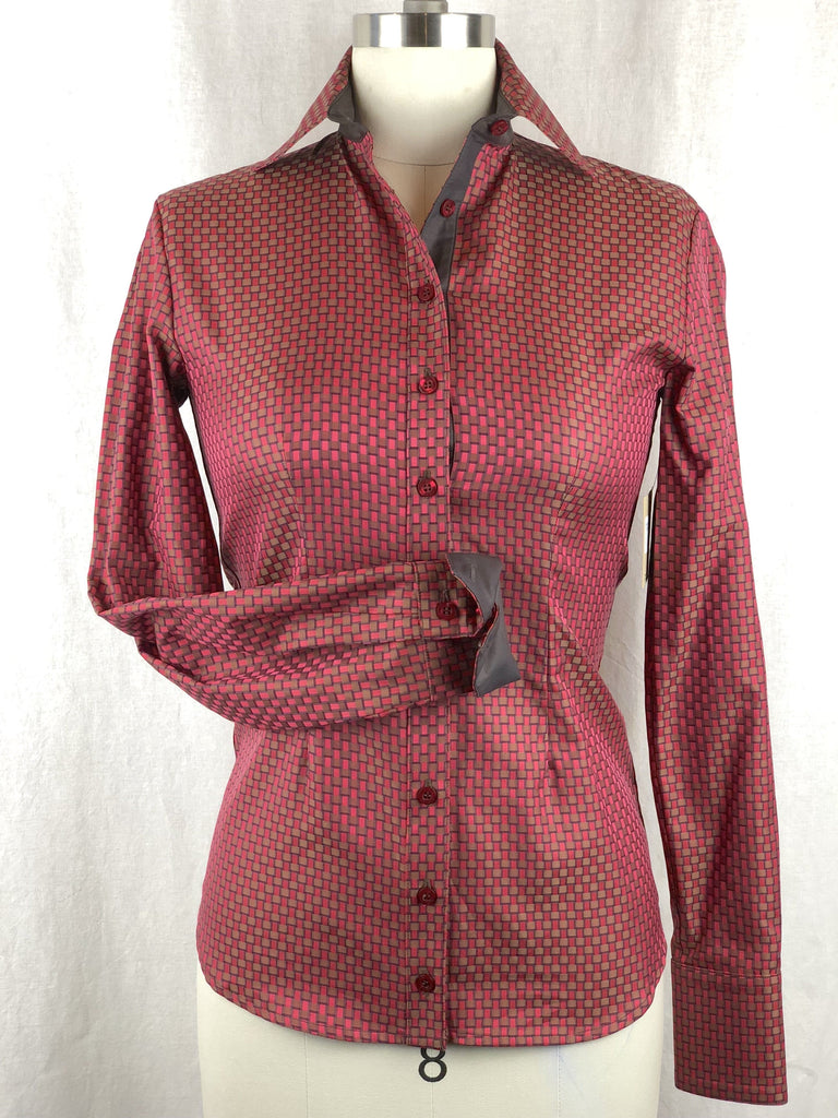 CR RanchWear Physical CR Tradition Red Brown Italian Cotton Custom Weave For CR