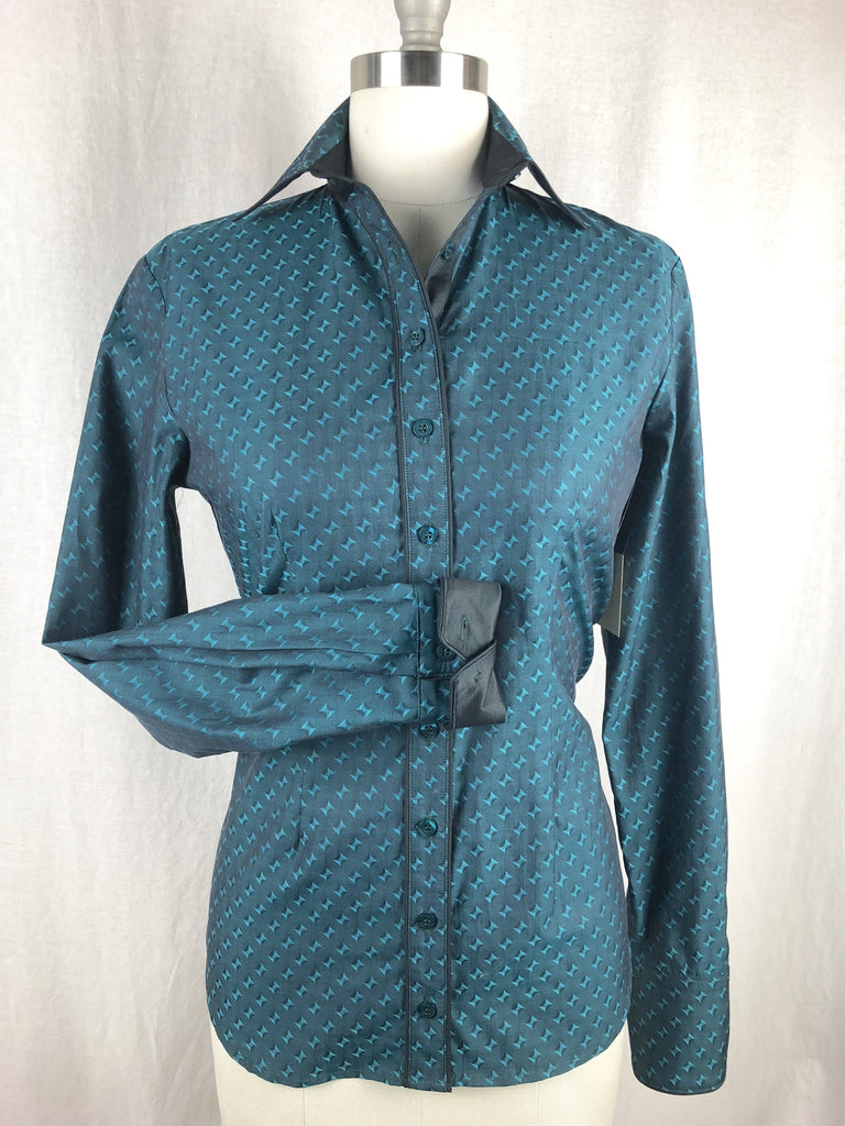 CR RanchWear Physical CR Tradition Teal Bow Tie Italian Cotton