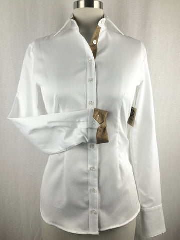 CR RanchWear Physical CR Tradition White Italian Cotton with Bronze Contrast