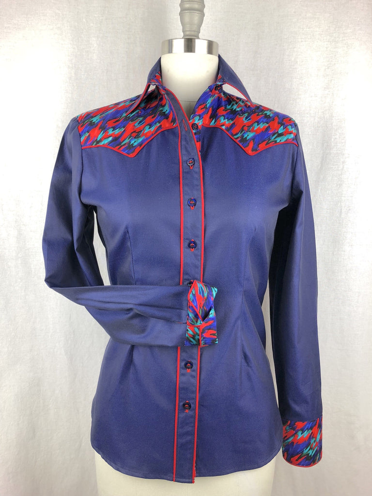 CR RanchWear Physical CR Vintage Navy with Red Splash
