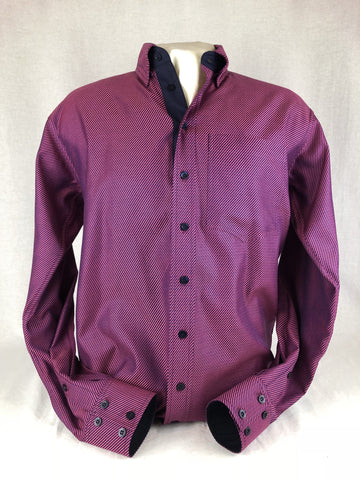 CR RanchWear Physical CR Western Pro Navy Hot Pink Diagonal Italian Cotton