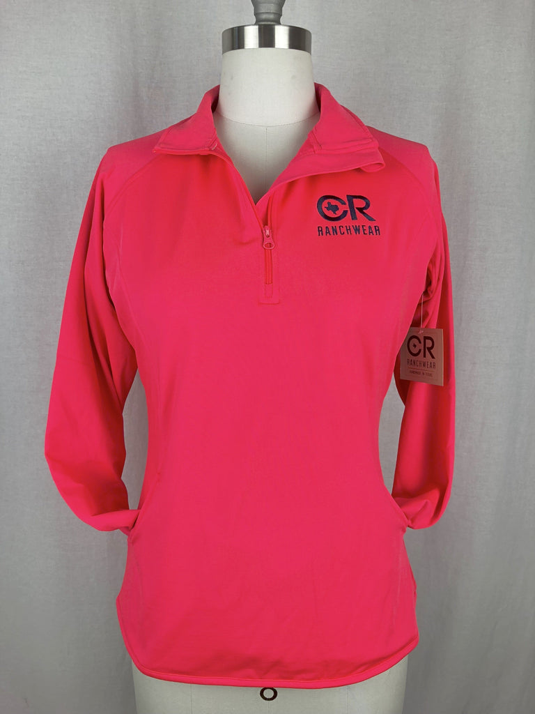 CR RanchWear Physical CR Women's Hot Coral 1/4 Zip