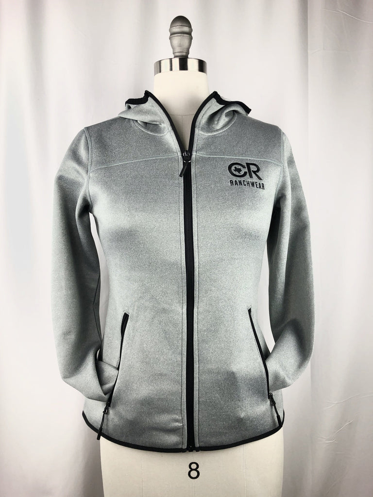 Buy Cr Women S Light Gray Full Zip Performance Jacket At