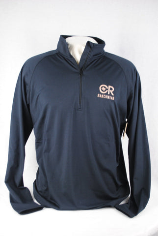 CR RanchWear Physical Men's Black Half Zip