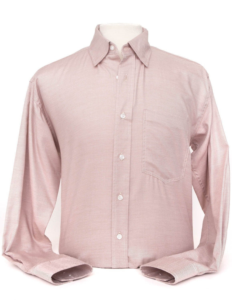 CR RanchWear Physical Men's Camel and White Italian Cotton Western Shirt