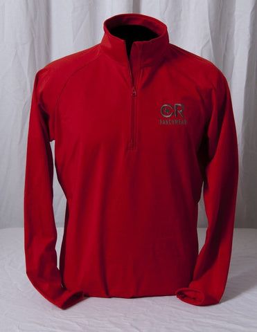 CR RanchWear Physical Men's Red 1/2 Zip Pullover