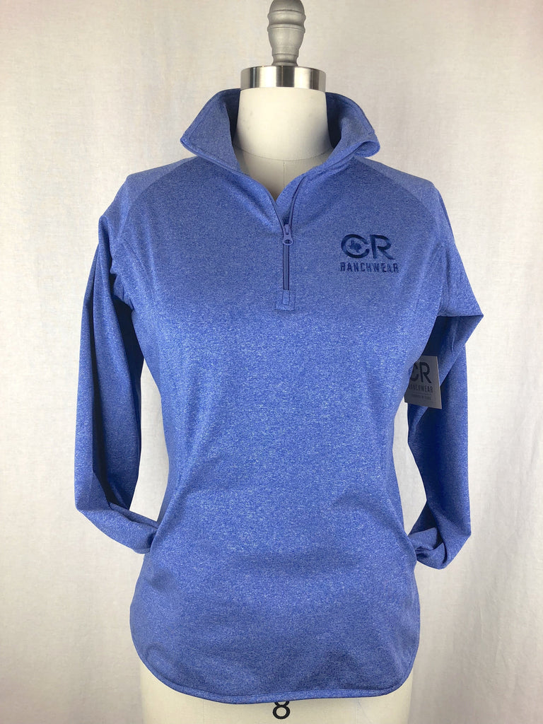 CR RanchWear Physical Women's CR Heathered Royal Blue 1/4 Zip
