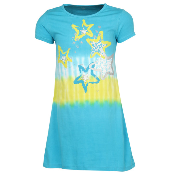 Girls Tie Dye Top With Foil And Regular Print