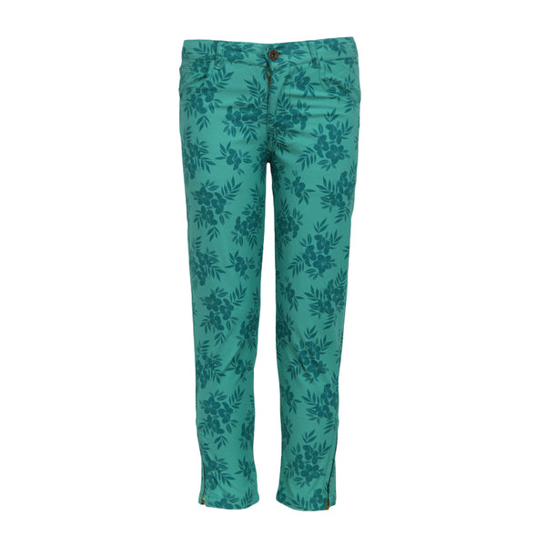 Printed Green Trousers for Girls
