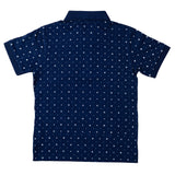 Boys Navy Polo Neck T-Shirt