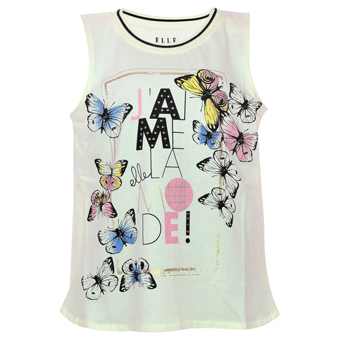 Girls Butterfly Printed Top