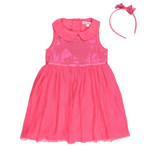 Pink Sequence Party Dress