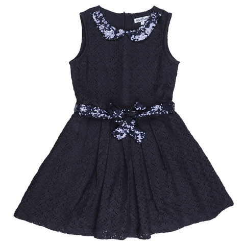 Girls Sequence Collar Dress