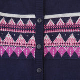 Front Open Purple Cardigan