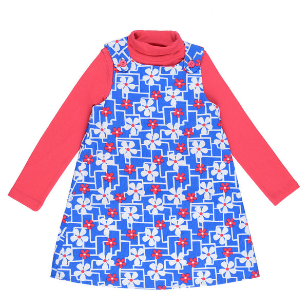 Girls Blue & Pink Printed Set