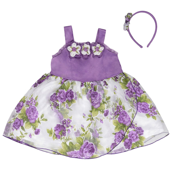 Girls LILAC/WHITE DRESS