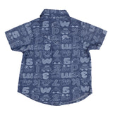 BOYS PRINTED BLUE SHIRT