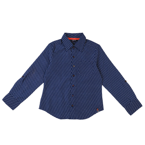 Boys Star Print Navy Shirt
