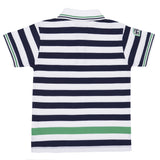 BOYS MULTI ENGINEERED STRIPE T-SHIRT
