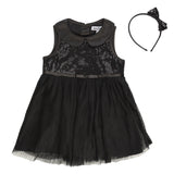Black Sequence Party Dress