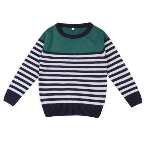 Round Neck Striper Sweater