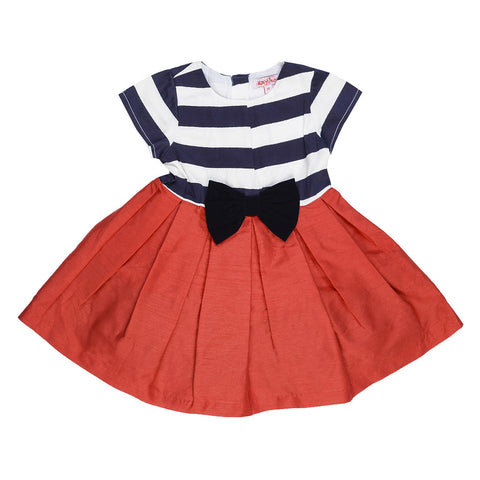 Girls Box Pleated Part Wear Dress