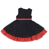 Girls Black Round Neck Dress